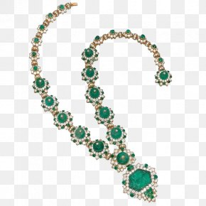Emerald Necklace - Earring Jewellery Emerald Necklace Diamond PNG