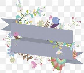 Gray Spiral Ribbon Header Box - Ribbon Computer File PNG