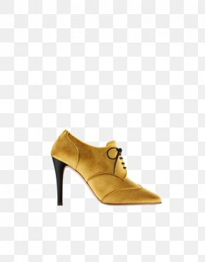 Gold Lace - Suede Boot Shoe PNG