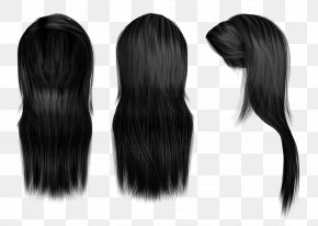 Hairdressing - Hairstyle Black Hair Long Hair Wig PNG