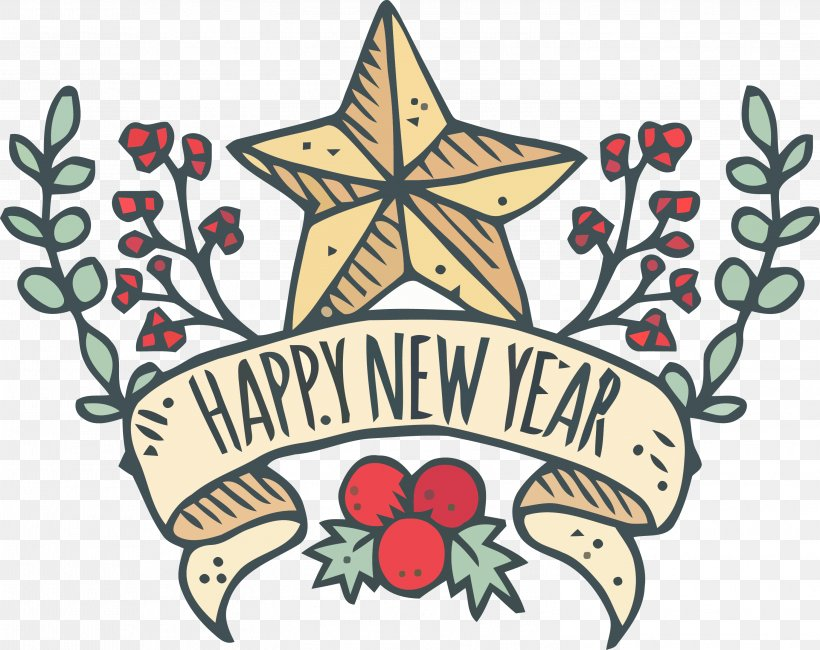 Happy New Year, PNG, 2998x2377px, Happy New Year, Christmas Eve Download Free