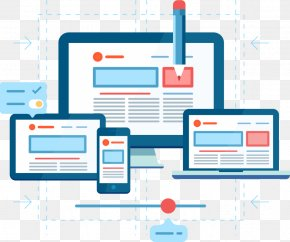 Web Design - Responsive Web Design Flat Design Web Development PNG