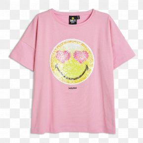 Pink Sequins - T-shirt Pink Sequin Color Hand PNG