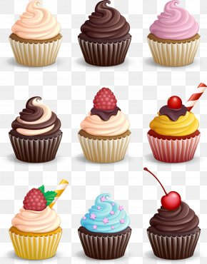Nine Cupcakes - Cupcake Muffin Chocolate PNG