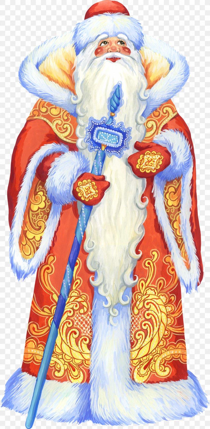 Ded Moroz Snegurochka Santa Claus Christmas Clip Art, PNG, 1716x3500px, Ded Moroz, Art, Christmas, Christmas And Holiday Season, Christmas Ornament Download Free