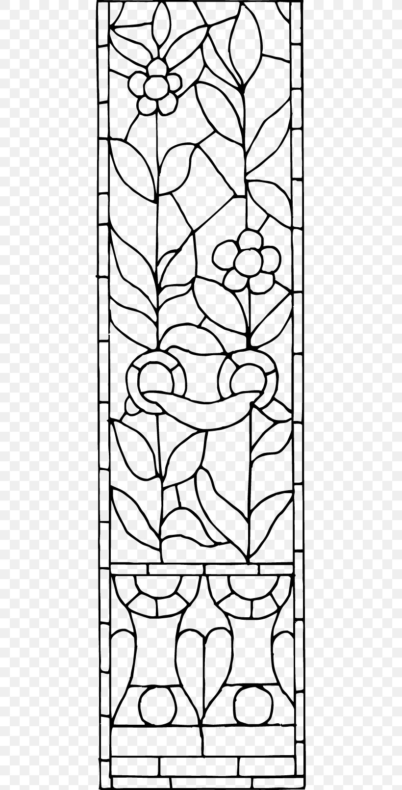 Black And White Visual Arts Pattern, PNG, 429x1610px, Black And White, Area, Art, Decorative Arts, Drawing Download Free