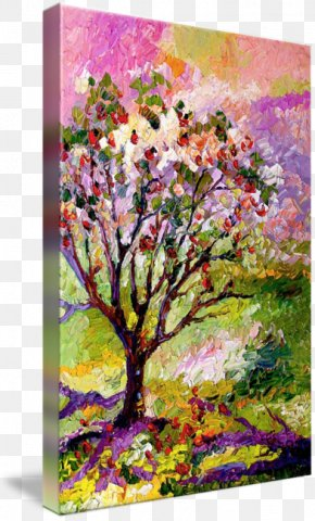 Watercolor Painting Tree - Painting Floral Design Modern Art Abstract Art PNG