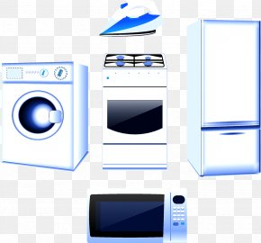 Home Devices - Washing Machine Refrigerator Home Appliance Kitchen Stove PNG