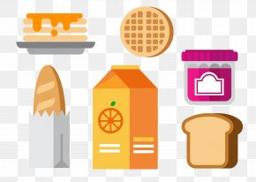 Breakfast Food Icon Vector Elements - Breakfast Fast Food Euclidean Vector Icon PNG