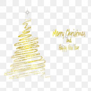 Golden Neon Christmas Tree - Christmas Tree Neon Lighting Neon Lighting PNG