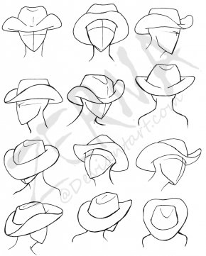How To Draw A Cowboy Hat - Drawing Cowboy Hat How-to PNG