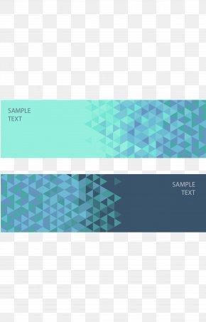 Blue Geometric Banner - Geometry Web Banner Euclidean Vector Geometric Shape PNG