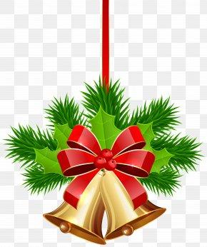 Xmas Golden Bells Clip Art Image - Christmas Jingle Bell Clip Art PNG
