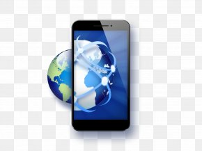 Global Business And Global Smartphone Icon - Smartphone Mobile App Icon PNG
