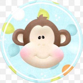 Cartoon Mouth Monkey Badge - Monkey Cartoon Clip Art PNG