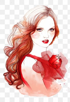 Cartoon Hair Style - Fashion Illustration Drawing Hairstyle Illustration PNG