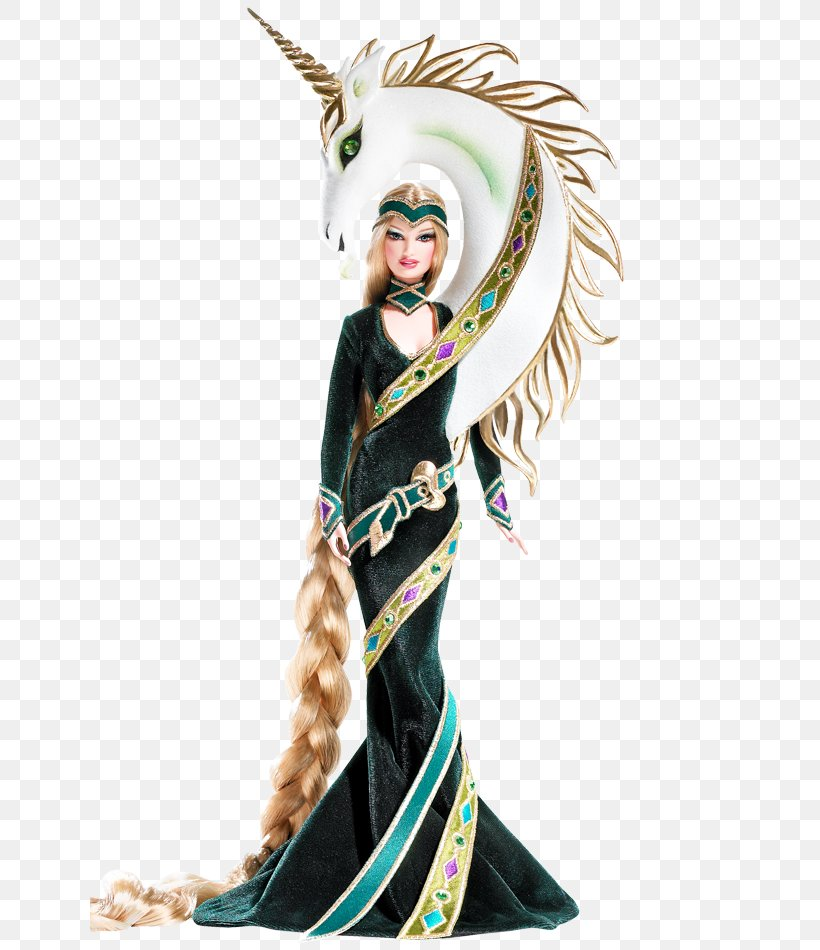 Lady Of The Unicorns Barbie Doll By Bob Mackie Bob Mackie Gold Barbie Movie Mixer Barbie Doll, PNG, 640x950px, Bob Mackie Gold Barbie, Barbie, Barbie Look, Barbie The Look, Bob Mackie Download Free