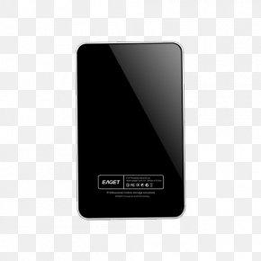 Silver Black Mobile Hard Disk - Electronics Gadget Brand PNG