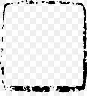 Black Ink Dots Square Frame Diagram - Ink Square Black And White PNG