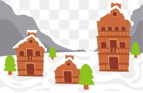 Vector Cold Weather - Log Cabin Cottage PNG