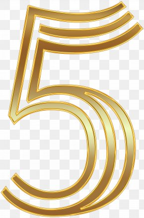 Number Five Gold Clip Art Image - Number Gold Clip Art PNG