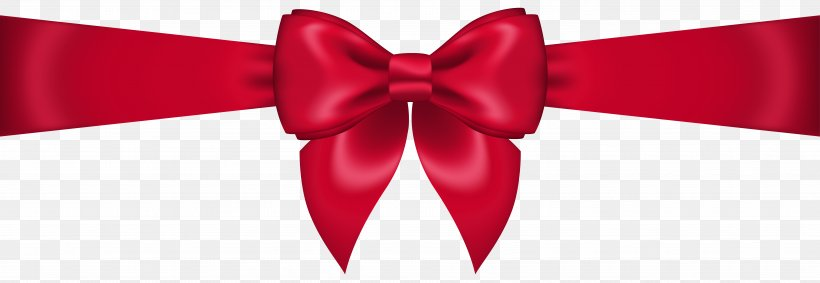 Red Clip Art, PNG, 7562x2619px, Ribbon, Bow And Arrow, Bow Tie, Christmas, Color Download Free
