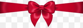 Red Bow Transparent Clip Art Image - Red Clip Art PNG