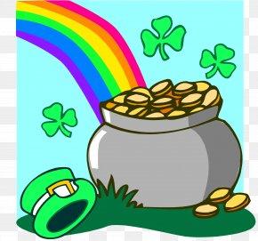 Gold Pot - Saint Patrick's Day St. Patrick's Day Activities Leprechaun Speech Clip Art PNG