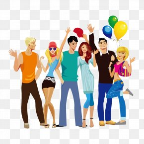 Vector Happy Group Of People - Royalty-free Euclidean Vector Clip Art PNG