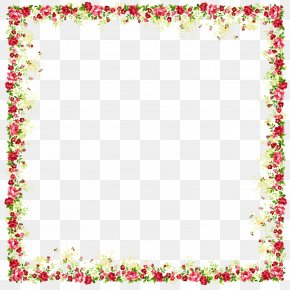 Four Sides Flower Frame - Borders And Frames Picture Frame Flower Clip Art PNG