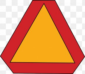 Slow Worker Cliparts - Slow Moving Vehicle Traffic Sign Clip Art PNG