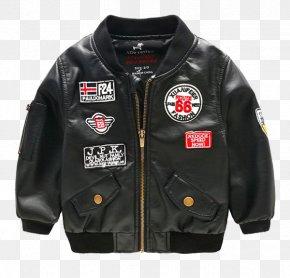 Boy Leather Jacket - Leather Jacket Outerwear Child Coat PNG
