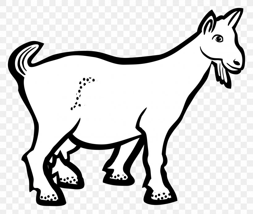 Boer Goat Line Art Drawing Clip Art, PNG, 2400x2034px, Boer Goat, Animal Figure, Area, Art, Black And White Download Free
