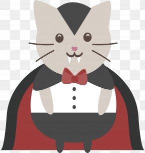 Vampire Cat - Cat Kitten Whiskers Clip Art PNG