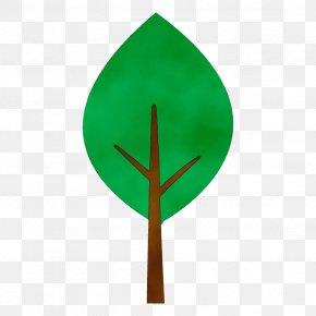 Flag Plant - Green Leaf Tree Plant Flag PNG