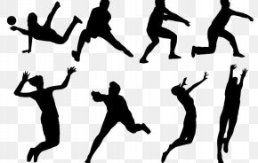 Women's Volleyball,action - Volleyball Sport Silhouette PNG