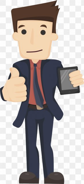 Someone Who Is Using A Cell Phone - Businessperson Royalty-free Illustration PNG