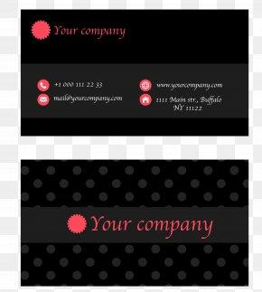Vector Black Business Card Design Template - Business Card Euclidean Vector PNG