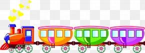 Toy-train - Train Railroad Car Clip Art PNG