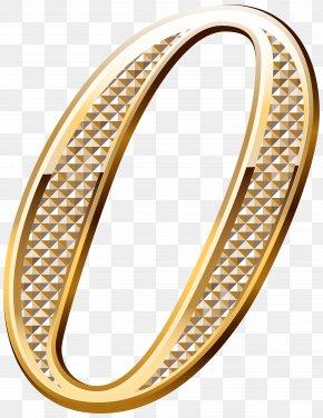 Number Gold Clip Art - Number 0 Gold Clip Art PNG