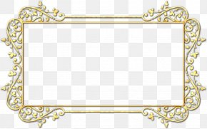 Place Card Picture Frame - Background Yellow Frame PNG