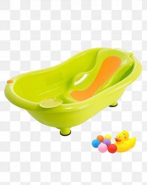 The New Pop-queen Spine Lying Green Orange Plate Bathtub - Bathtub PNG