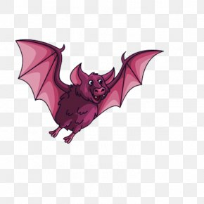 Red Bat - Bat Flight Flying And Gliding Animals Clip Art PNG