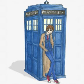 Tardis Icon - TARDIS Drawing PNG