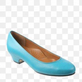 Aqua-blue - Ballet Flat Shoe PNG