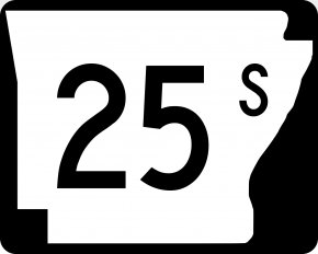 25 - Arkansas Highway Shield Wikimedia Commons Typeface PNG
