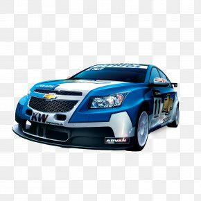Chevrolet Blue Racing Car - Car Chevrolet Poster Advertising PNG