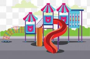 Cartoon Slide Toy - Playground Slide Child Toy PNG