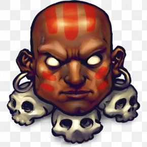 Street Fighter Dhalsim - Head Skull Jaw Mask Face PNG