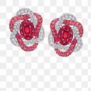 Ruby - Ruby Earring Jewellery Costume Jewelry PNG